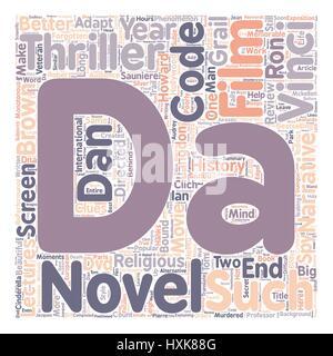 The Da Vinci Code DVD Review text background wordcloud concept - Stock Photo