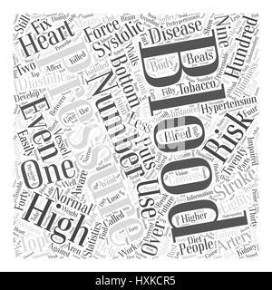 Understanding Your Blood Pressure Word Cloud Concept - Stock Photo