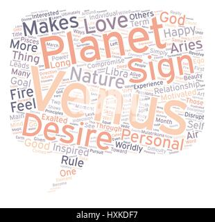 Venus In Aries March April text background wordcloud concept - Stock Photo