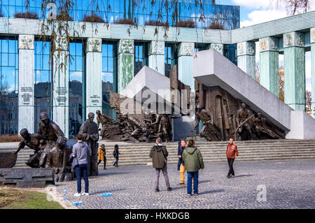 Warsaw Uprising Monument commemorates soldiers of the Polish underground Home Army and rising against Nazi occupiers - Stock Photo