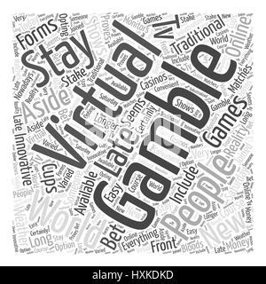 virtual gambling Word Cloud Concept - Stock Photo