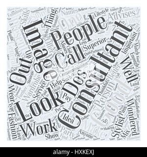 what calls for an image consultant Word Cloud Concept - Stock Photo