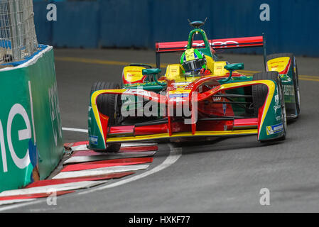 Buenos Aires, Argentina. 18th Feb, 2017. Abt Schaeffler Audi Sport driver Lucas di Grassi of Brazil, steers in the - Stock Photo