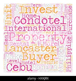 Why Condotels text background wordcloud concept - Stock Photo