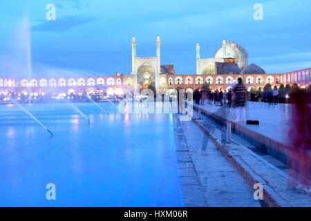 Naqsh-e Jahan Square (Persian: میدان نقش جهان Maidān-e Naqsh-e Jahān; trans: 'Image of the World Square'), Esfahan, - Stock Photo