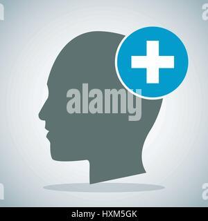 human head brain medical cross concept - Stock Photo
