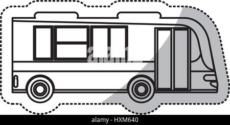 bus transport city outline - Stock Photo