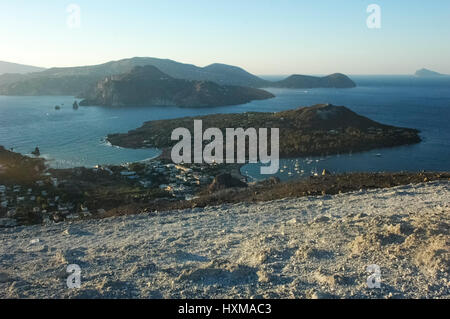 View of suggestive scenery of the Aeolian Islands - Stock Photo