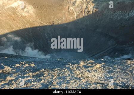 Hike on the top of the volcano - Stock Photo