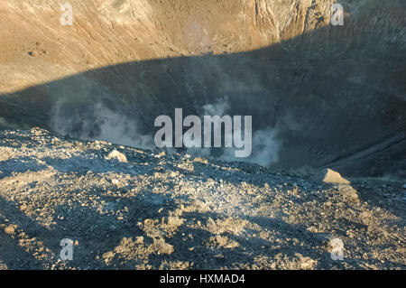Hike on the crater of the volcano - Stock Photo