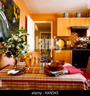 Kitchen table. - Stock Photo