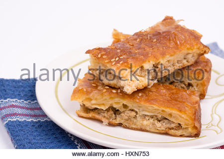 Puff mince pie on a white background Stock Photo: 65134218