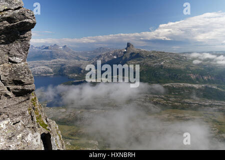 View from Mjellefjellet, near Bodø, northern Norway - Stock Photo