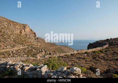 Tilos island, Dodekanes, Griechenland - Stock Photo