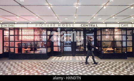 London's Picturehouse Central Cinema, Car and Bar in London's West End with a man pictured leaving the venue. - Stock Photo