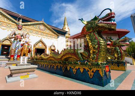 Wat Chaiya Mangkalaram or Wat Chayamangkalaram  is a Thai Buddhist temple in George Town, Penang, Malaysia, most - Stock Photo