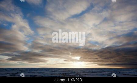 Pack ice in the polar sea , Packeis im Polarmeer - Stock Photo