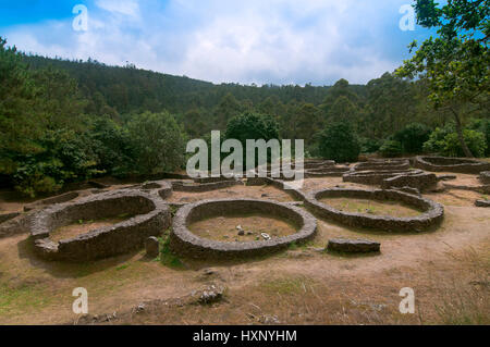Celtic settlement of Castro de Borneiro (between 4th and 1st centuries BC), Cabana de Bergantiños, La Coruña province, - Stock Photo