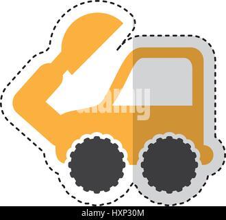 excavator machine isolated icon - Stock Photo