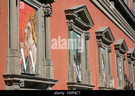 Naples, Italy, 02/21/2017:The Naples National Archaeological Museum is the most important Italian archaeological - Stock Photo