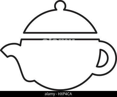Chinese Teapot Icon Outline Illustration Of Chinese Teapot Vector
