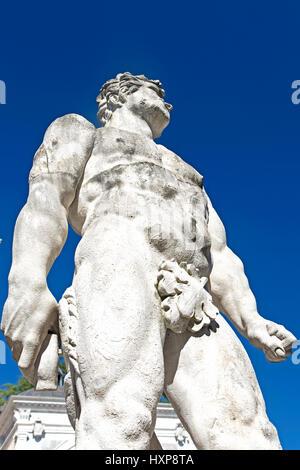 Udine, the statue of Hercules in Piazza della Libertà - Stock Photo