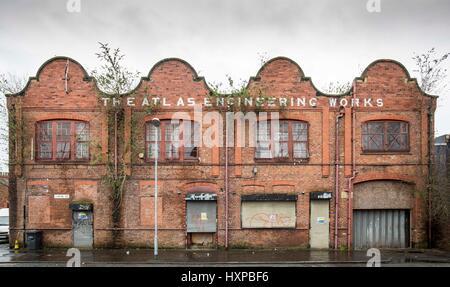 Atlas Works , Chapel Street , Levenshulme.  Demolition begins on the brown field site - Stock Photo