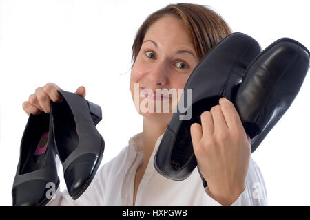 Woman with shoes (mr), Frau mit Schuhen (mr) - Stock Photo