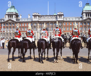 Changing of the Guard Ceremony, Horse Guards Parade, Whitehall, Greater London, England, United Kingdom - Stock Photo