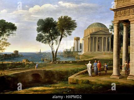 Landscape with Aeneas at Delos Claude Lorrain , Claude Gellée, 1604/1605–1682)   Claude Lorrain , Claude Gellée, - Stock Photo