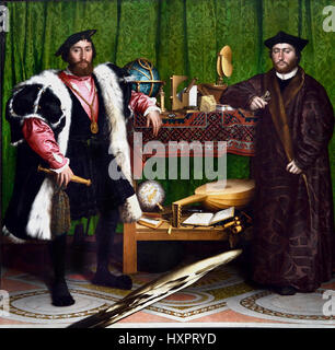 The Ambassadors  1533 Hans Holbein the Younger 1497-1543 German Germany - Stock Photo