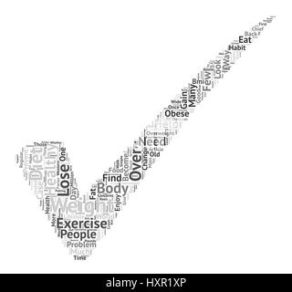 How To Lose Weight The Healthy Way text background word cloud concept - Stock Photo