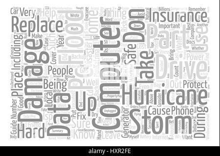 Hurricane Proof Computer text background word cloud concept - Stock Photo