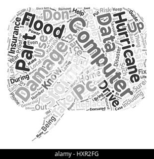 Hurricane Proof Computer Word Cloud Concept Text Background - Stock Photo