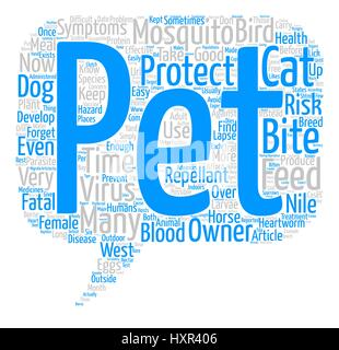 Mosquitoes Are a Hazard to Your Pet s Health Too text background word cloud concept - Stock Photo