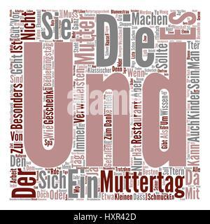 Muttertag Geschenke Ideen text background word cloud concept - Stock Photo