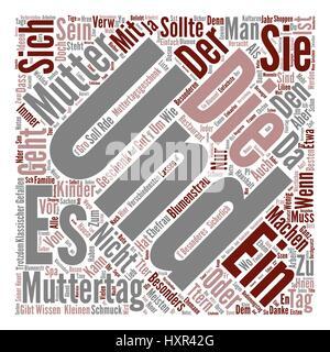 Muttertag Geschenke Ideen text background wordcloud concept - Stock Photo