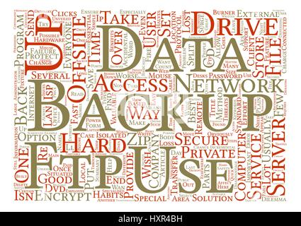 Offsite Backup Benefits And Threats Unveiled Word Cloud Concept Text Background - Stock Photo