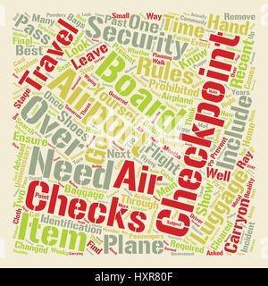 Airport Security Checkpoints What You Need to Know text background word cloud concept - Stock Photo