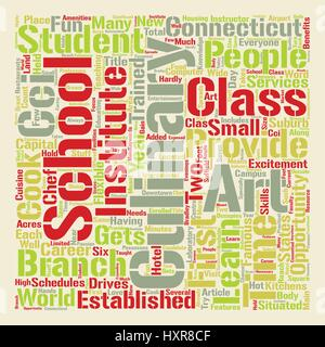Arts Culinary School In Connecticut text background word cloud concept - Stock Photo