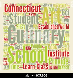 Arts Culinary School In Connecticut Word Cloud Concept Text Background - Stock Photo