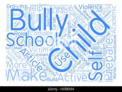 Backpacks and Bullies Is Your Child Prepared text background word cloud concept - Stock Photo
