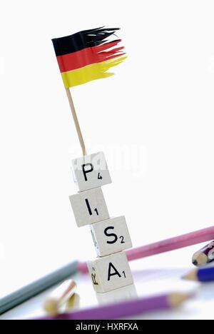 Pisa study, Pisa, study, studies, Germany, badly, education, educational plight, school, schools, bad, bad, stupidly, - Stock Photo