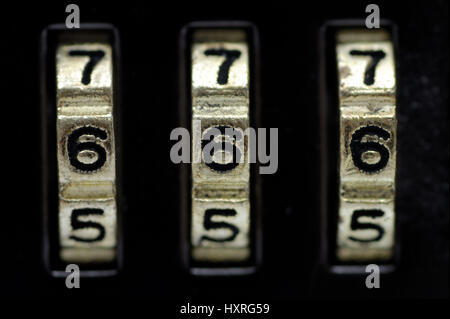 Combination lock, combination locks, secret, secrets, castle, castles, figures, number, numbers, numerical order, - Stock Photo