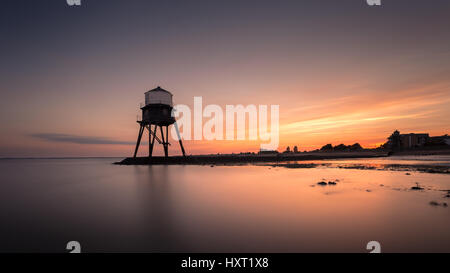 Dovercourt Victorian disused Lighthouse, England in Sunset - Stock Photo