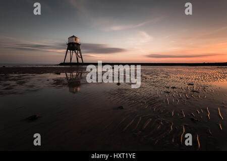 Dovercourt Lighthouse Victorian at sunset - Stock Photo