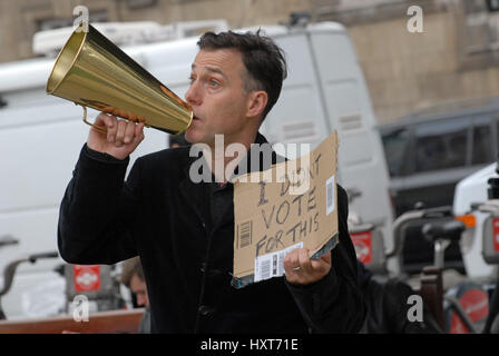 London, UK. 29th Mar, 2017. Protestors outside the Houses of Parliament on day of Article 50 withdrawing the UK - Stock Photo