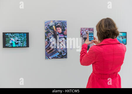 London, UK. 30th Mar, 2017. From Selfie to Self-Expression at the Saatchi Gallery. The exhibition looks at the history - Stock Photo