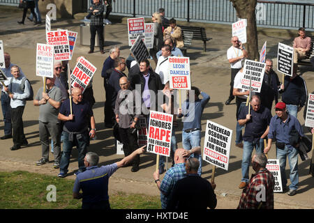 Southbank, London, UK. 30th Mar, 2017. Protest march over the alleged government's link to Uber Credit: Simon Balson/Alamy - Stock Photo
