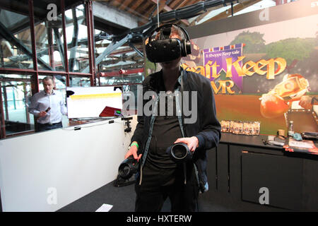 London, UK. 30th Mar, 2017. Gamers testing the latest game releases, 1st day of EGX Rezzed, London, United Kingdom, - Stock Photo